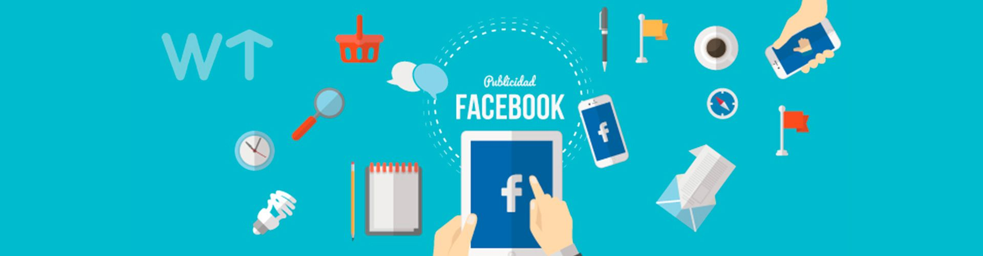 Banner of social media showing Facebook use.