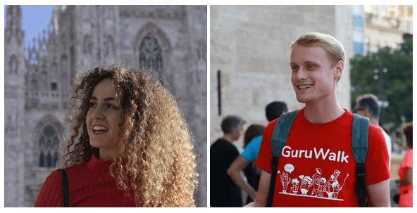 Foto de perfil de 2 guías de la plataforma GuruWalk con sonrisa y de buena calidad.