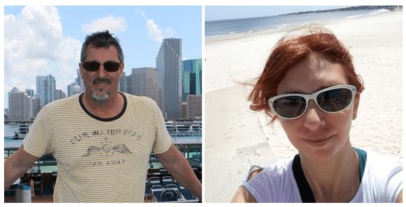 foto de perfil de 2 guías de la plataforma de free tours GuruWalk con gafas de sol.