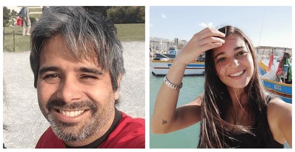 2 fotos de guías con sonrisa de la plataforma GuruWalk.