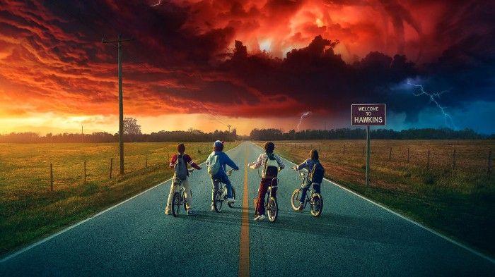 Foto de portada de la Serie de Netflix Strangers Things.