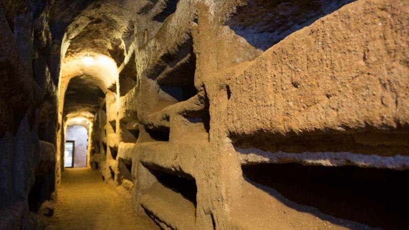 Catacumbas de San Calixto y la Vía Appia en Roma