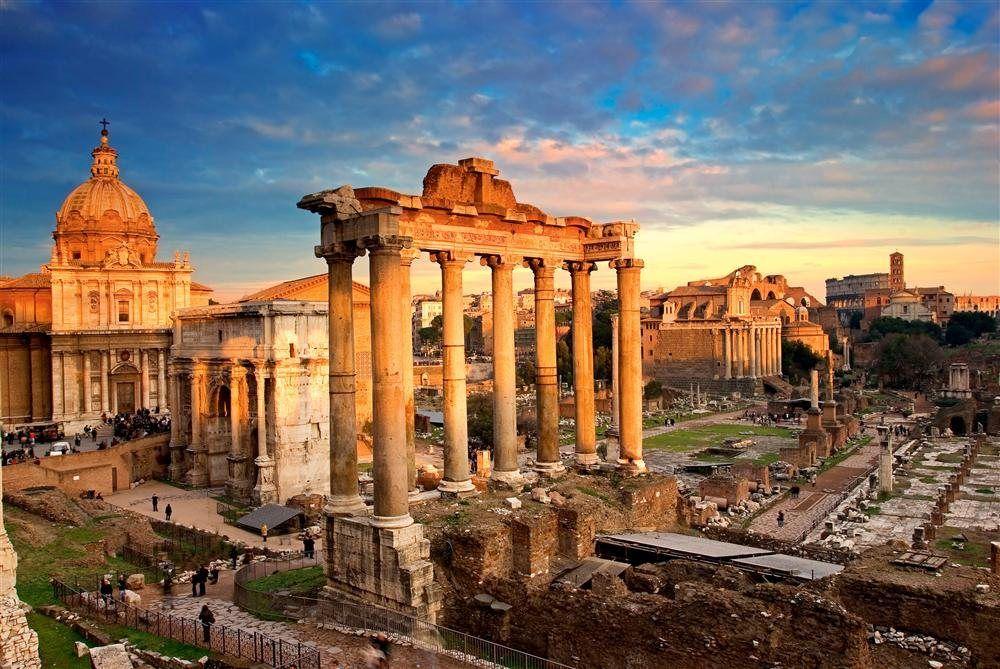 ver el Foro Romano en la capital de Italia