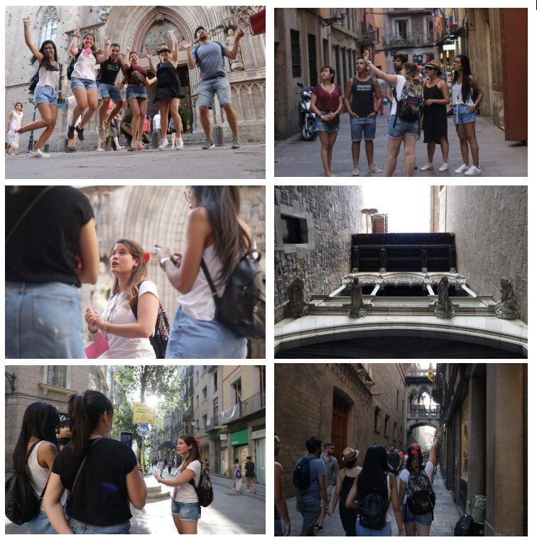 Pictures of a guided tour in Barcelona.