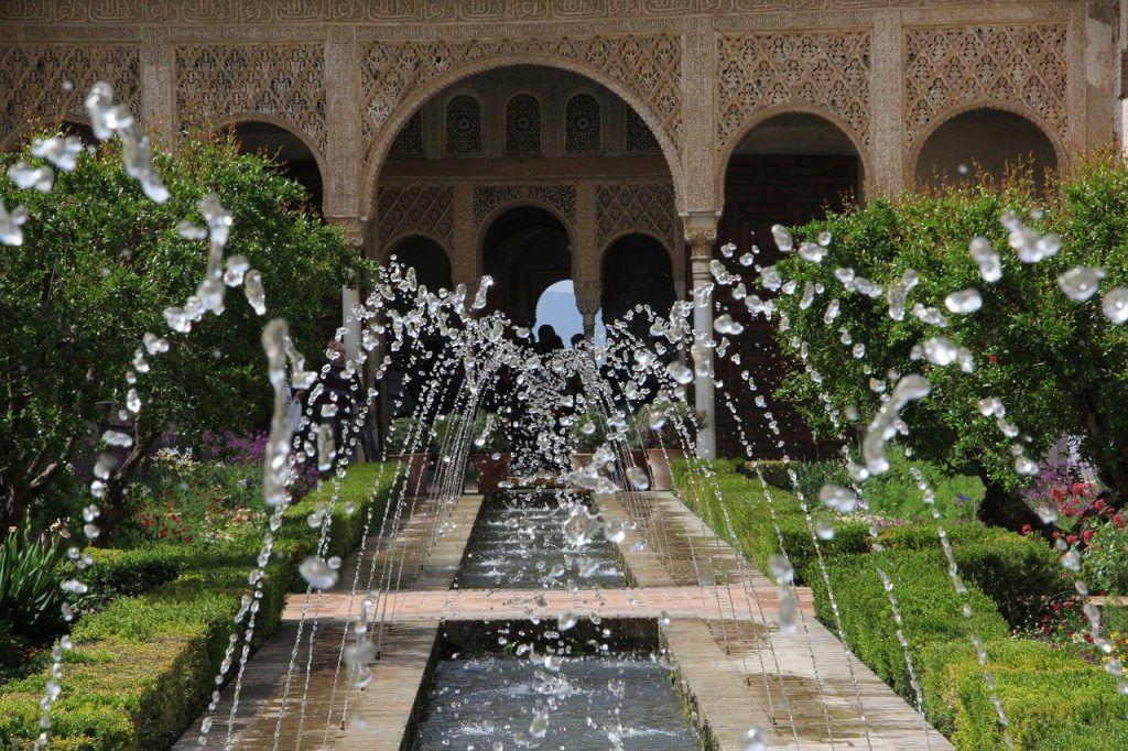 Fuente en la Alhambra