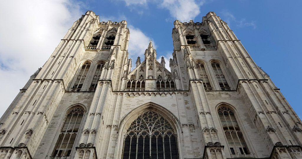 Fachada catedral de Bruselas