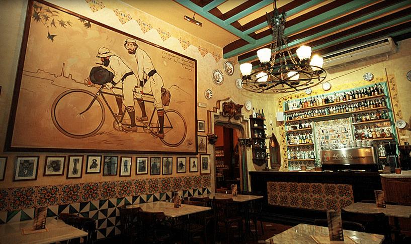 Interior de los Cuatro Gatos, Barcelona