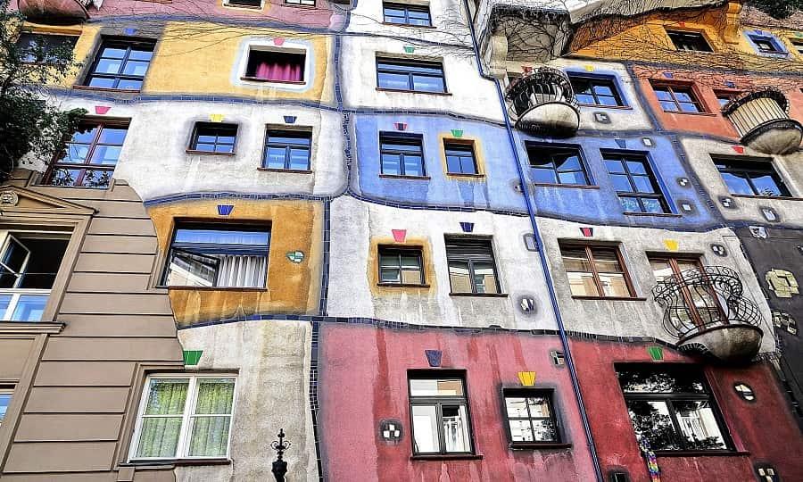 Hundertwasserhaus, casas de colores en Viena
