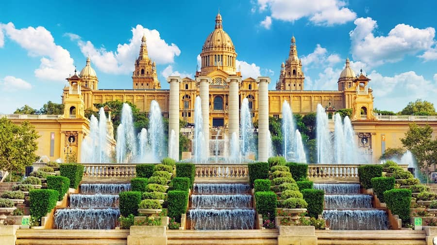 Las terrazas del Museo Nacional de Arte de Cataluña (MNAC)